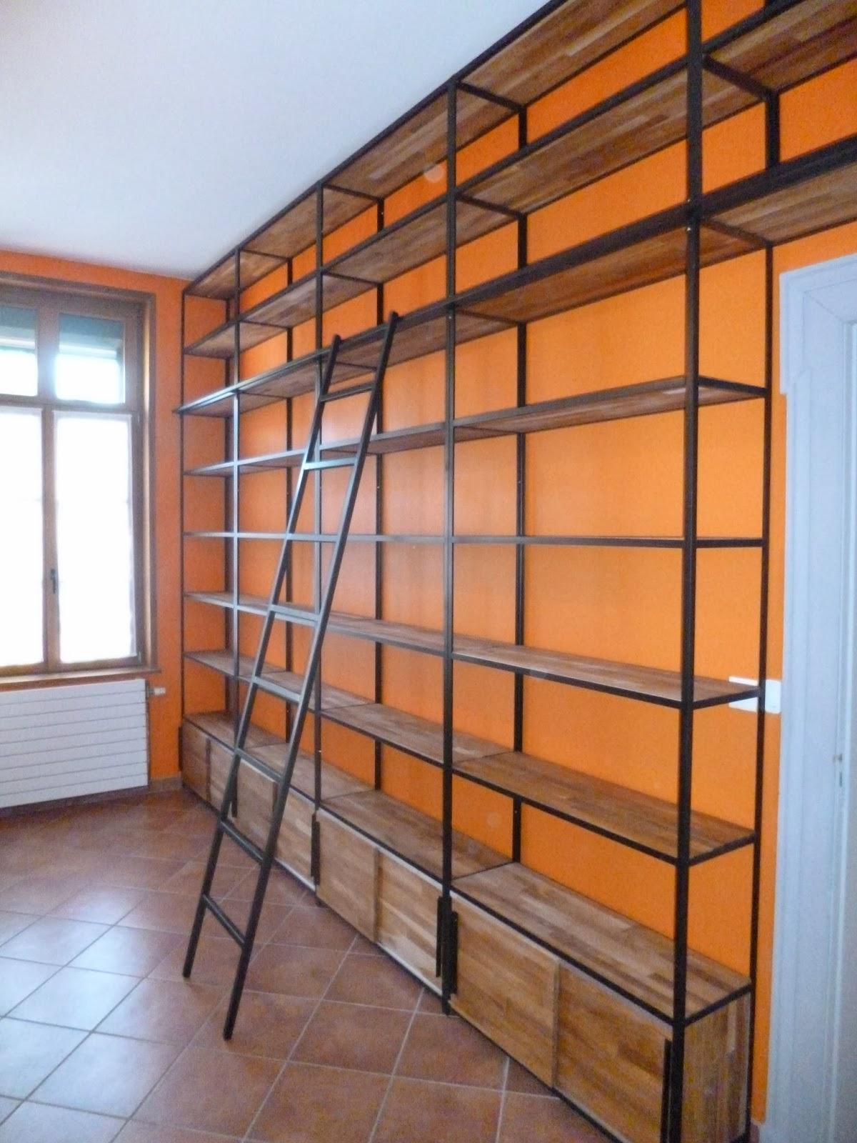 Blog de la maison de l 39 imaginarium l 39 ambiance factory 1 - Bibliotheque moderne sur mesure ...