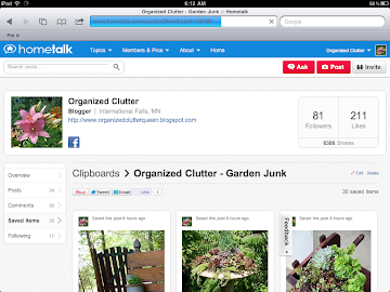 Hometalk Clipboard - Garden Junk