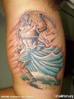 Espada Tatto on Outra Hist  Ria  Ogum   Tatuagens E Seus Significados
