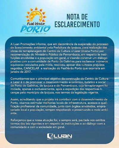 FestVerão Porto 2017 é cancelado. Confira a nota!
