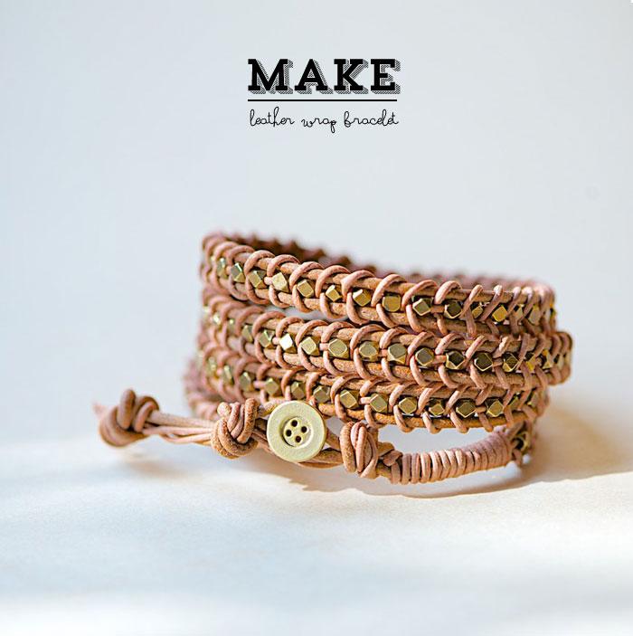 diy leather wrap bracelet poppytalk