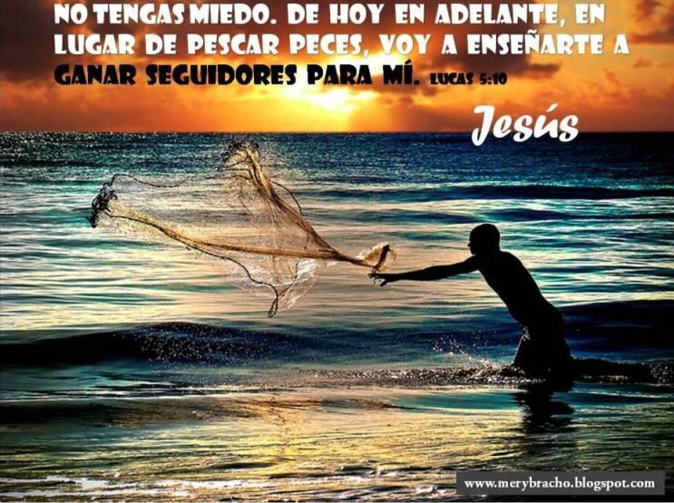 Postales cristianas Jesús quiere que seas un Pescador de hombres
