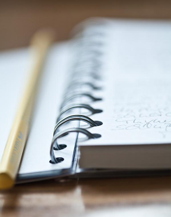 Applewood House Notizbuch Rezepte Spiralbindung
