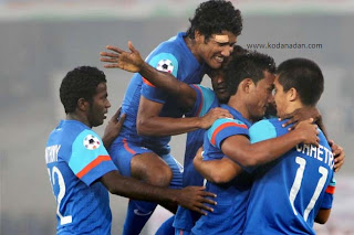 India wins the SAFF Championship 2011