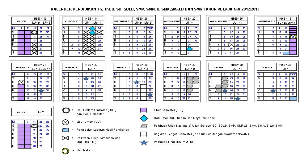Kalender Pendidikan 2012 2013 Fajar Guru