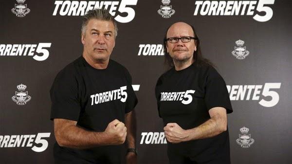 Alec Baldwin y Santiago Segura en Madrid promocionando Torrente 5