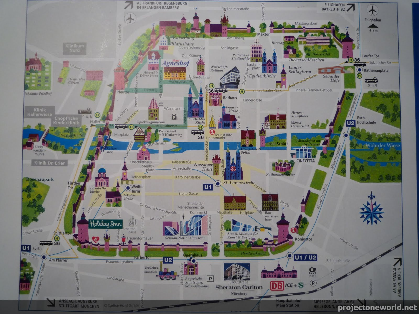 germany nuremberg – Nuremberg Tourist Map
