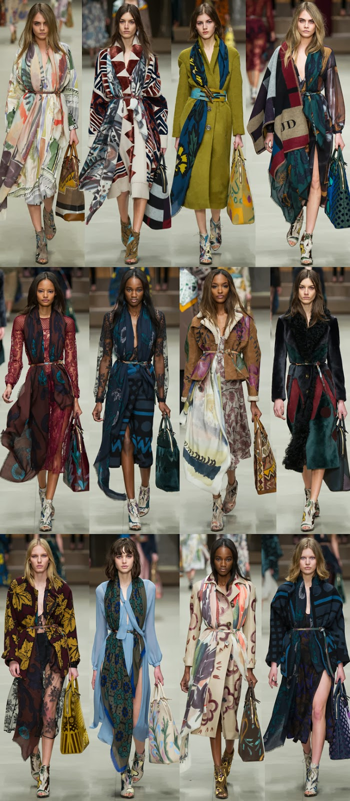 Burberry Prorsum fall winter 2014 runway collection, FW14, AW14, Christopher Bailey, Cara Delevigne