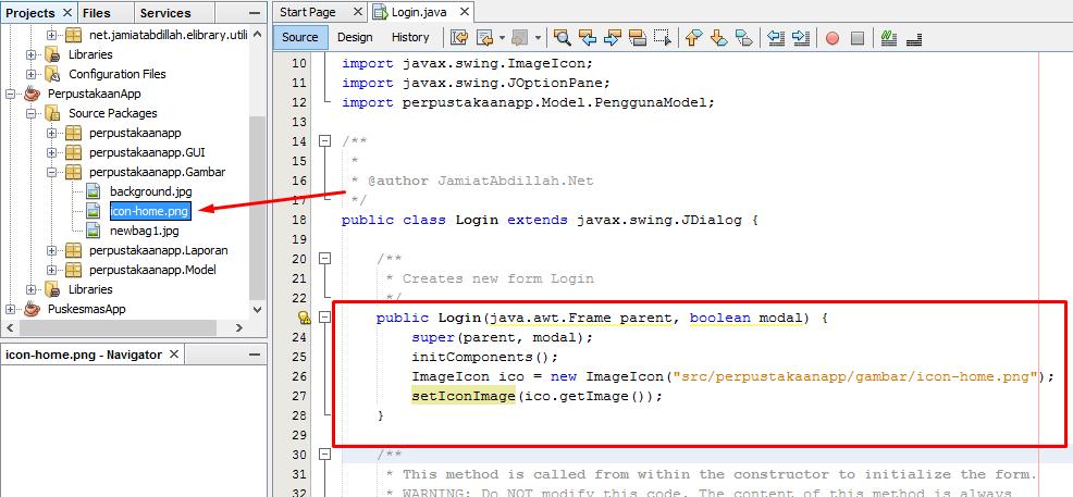 Cara Mengganti Icon Java