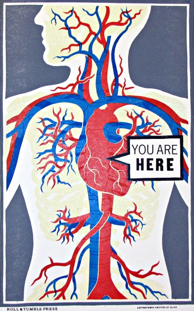 You are Here, anatomical poster