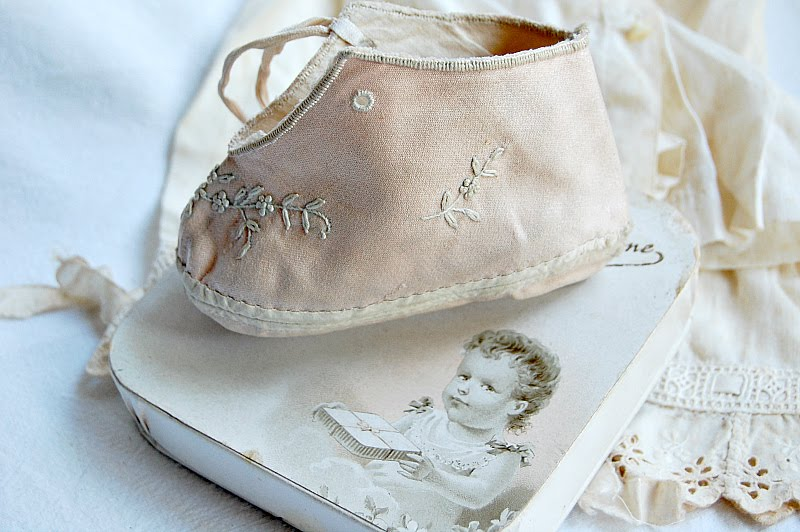 hand stitched baby shoe
