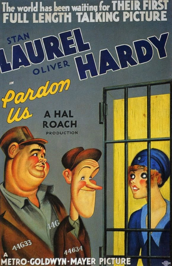 laurel and hardy pardon us film 1931 poster
