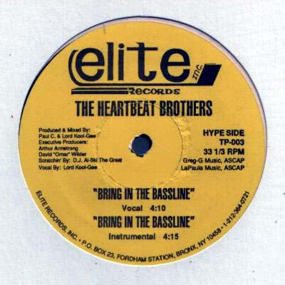 """The Heartbeat Brothers – Can We Do This / Bring In The Bassline – 12"""" – 1989"""