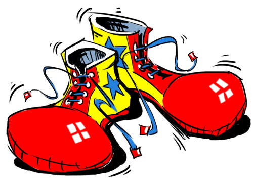 clown shoes cartoon image