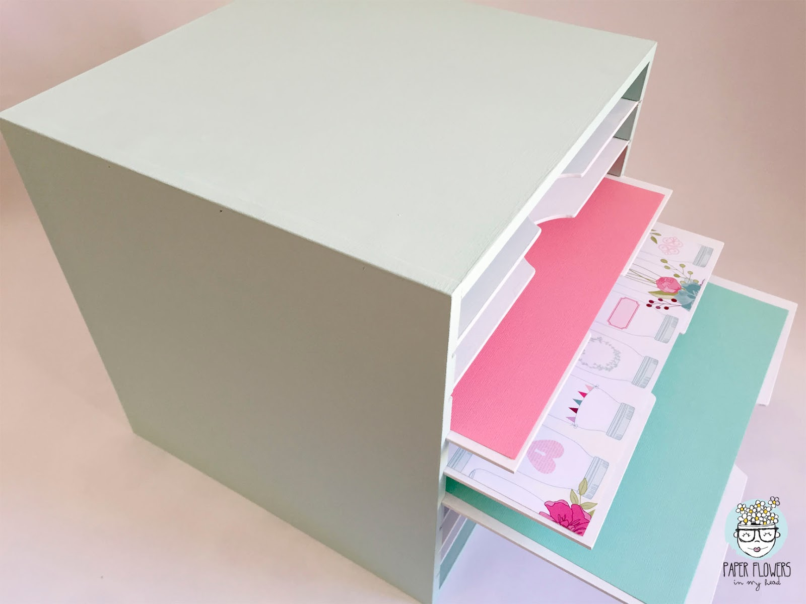 mueble scrapbooking chalk paint