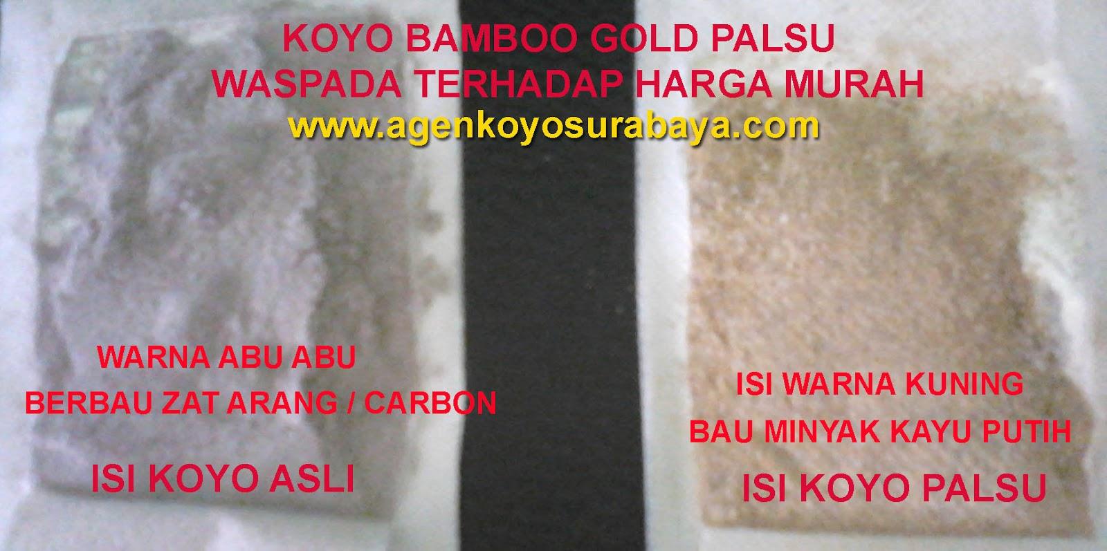 Daftar Harga Koyo Kaki Bamboo Bambu Gold Original Terbaru 2018 Bambo Detox Kesehatan Agen Surabaya Happy Life Jual Ciri Yang Tidak Ori Kw