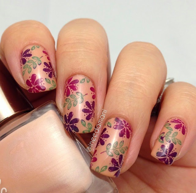 fall floral nails how to multi colored nail stamping