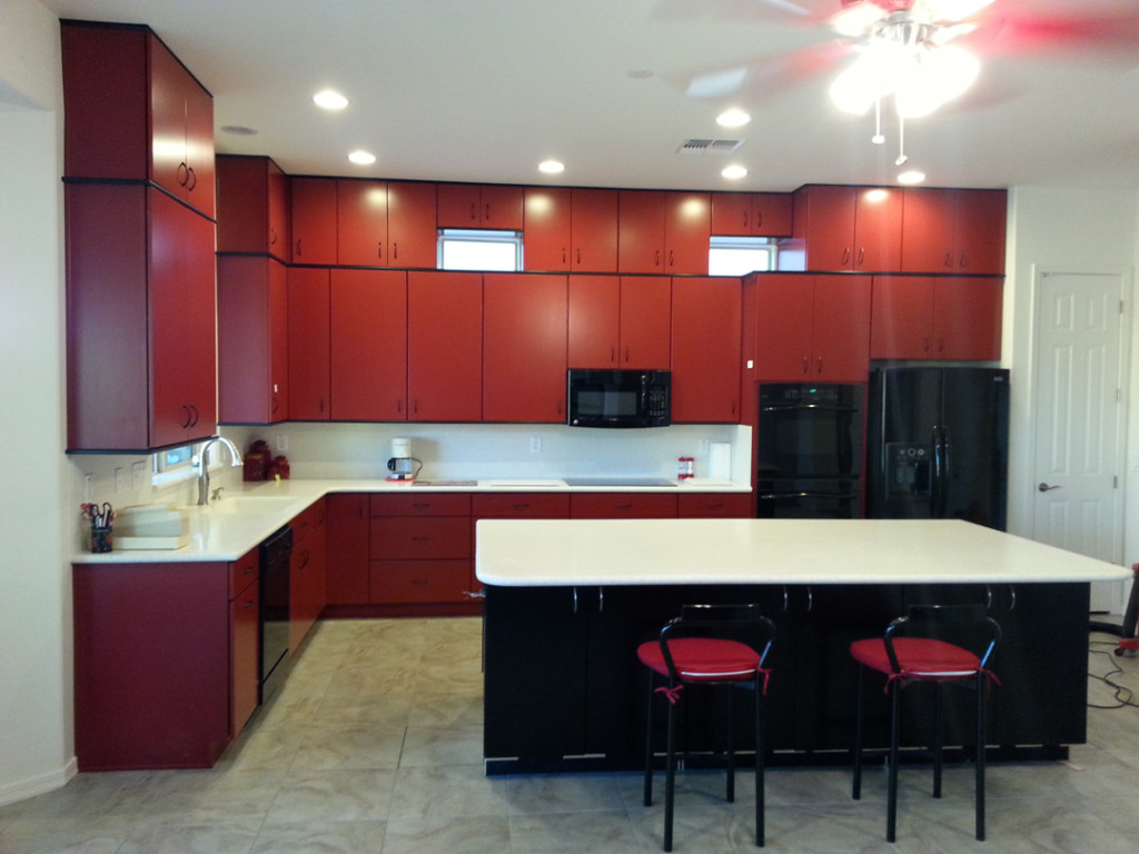 Red And Black Kitchen Decor