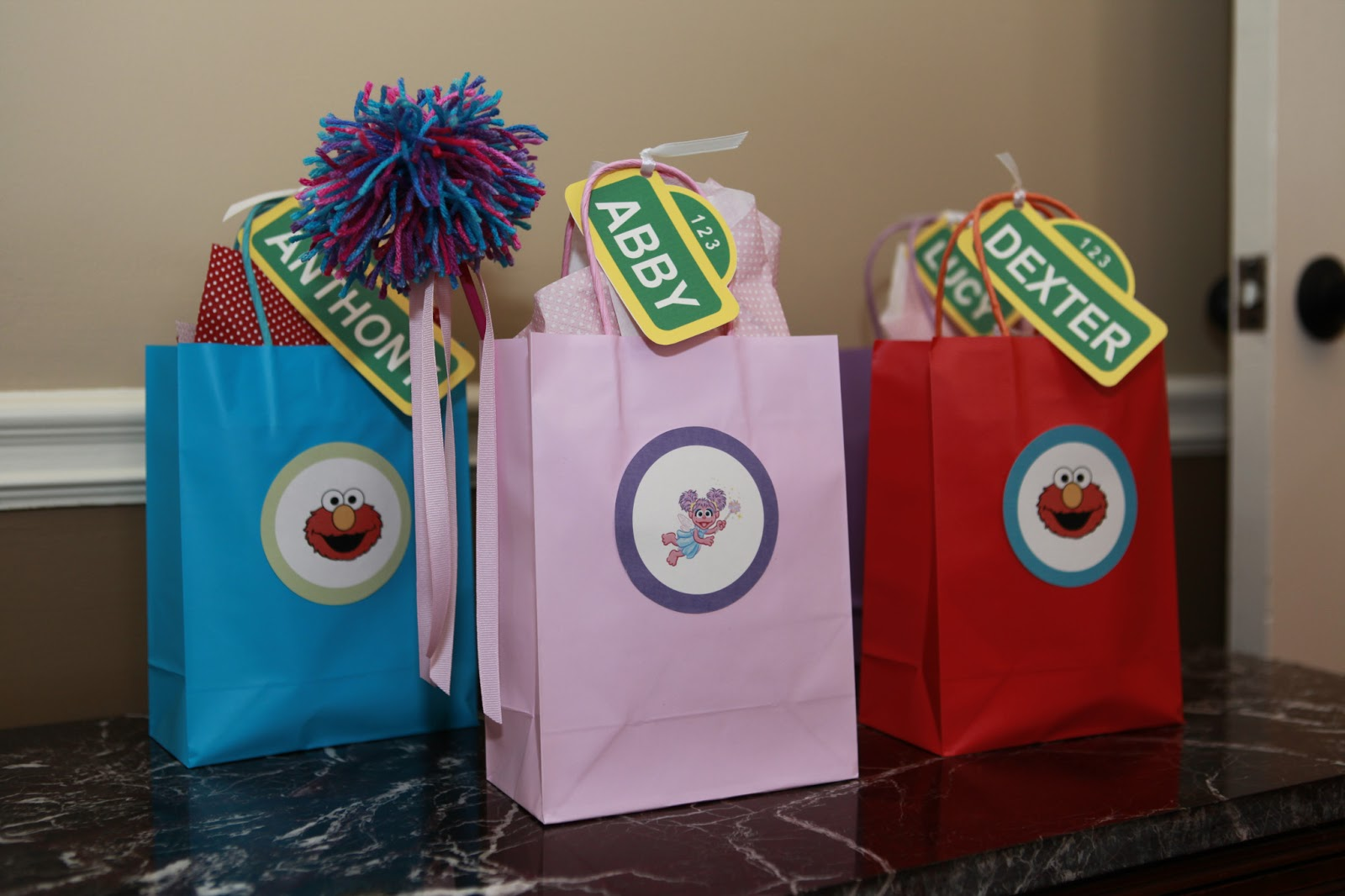 what julie made sesame street favor tags printable