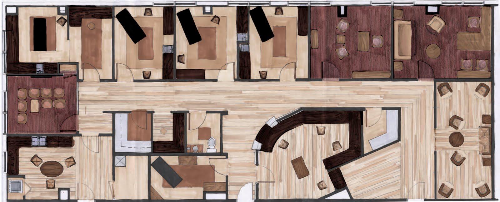 Chiropractor Table Photoshop Rendered Floor Plan further House Floor Plan Design ...