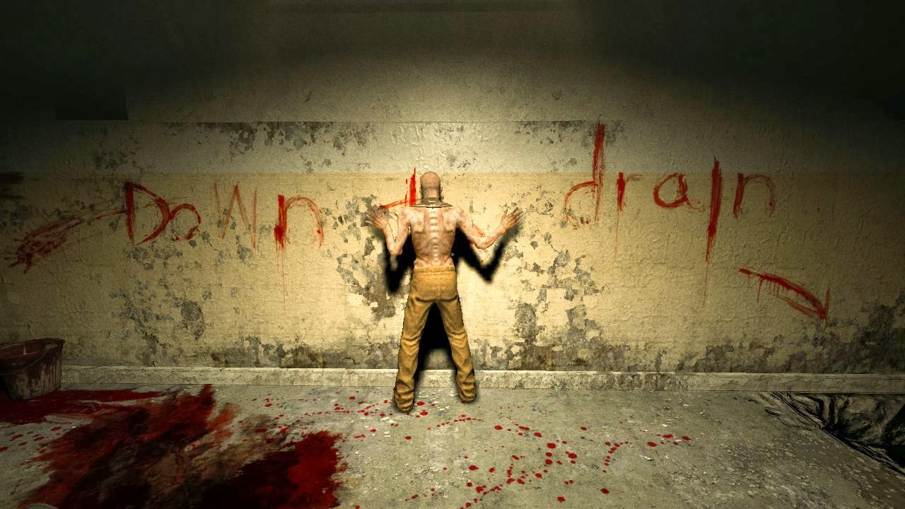Outlast pc game review picture of writing in blood on wall