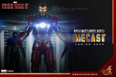 "Hot Toys 1/6 Scale Iron Man 3 - Mark XVII ""Heartbreaker"" Armor MMS Diecast Figure"