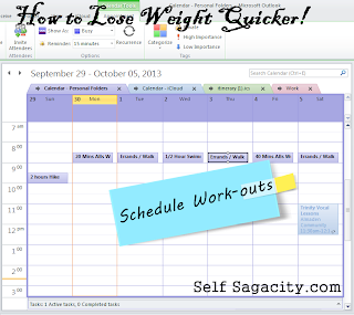 calendar schedule work-outs