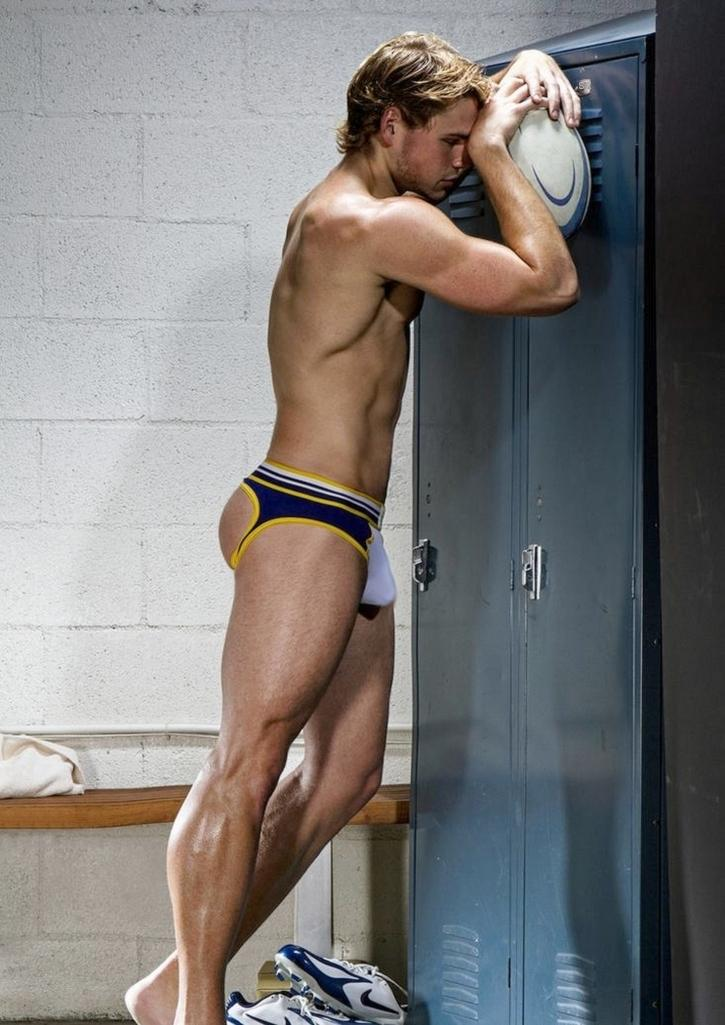 Barefoot Men In And Out Of Underwear