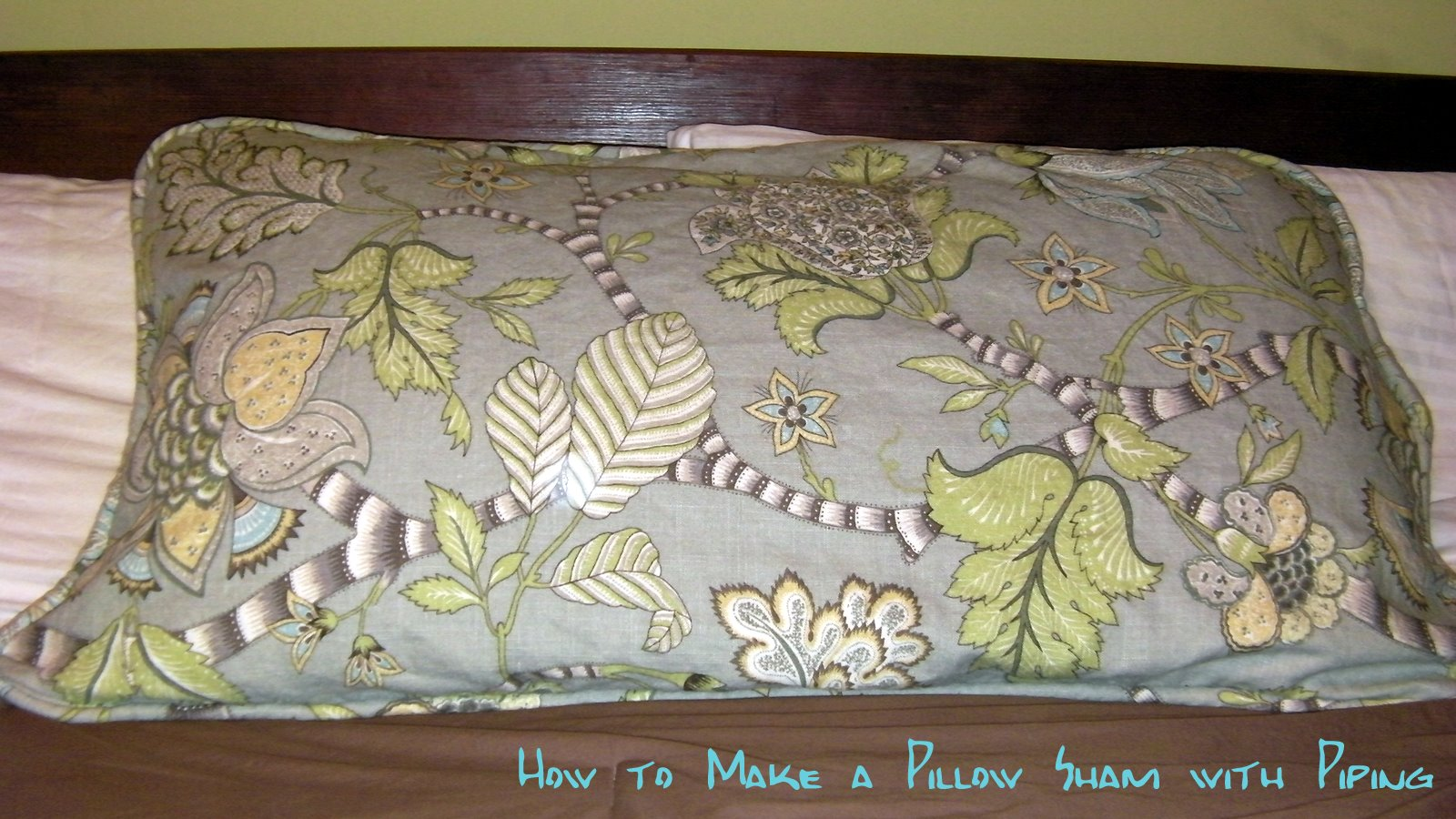 How To Make A Throw Pillow With Piping : Designs by Sessa