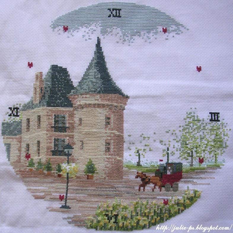 Castle clock часы с замком