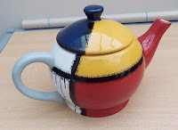 Mondrian teapot by Enesco