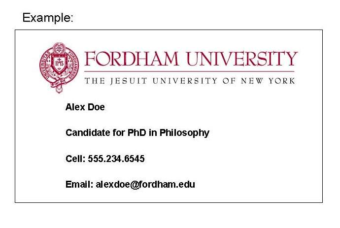Fordham gsas grad life business cards available for gsas students find the order form here colourmoves Choice Image