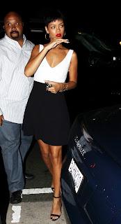 Rihanna leggy