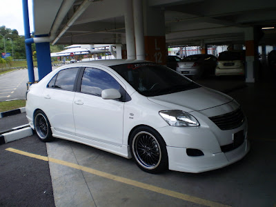 Toyota Vios with bodykit.