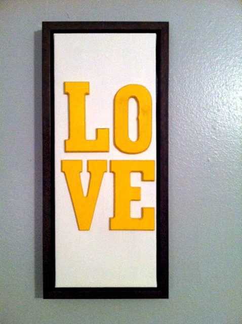 These Happy Times: DIY Love Wall Art