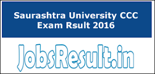 Saurashtra University CCC Exam Rsult 2016