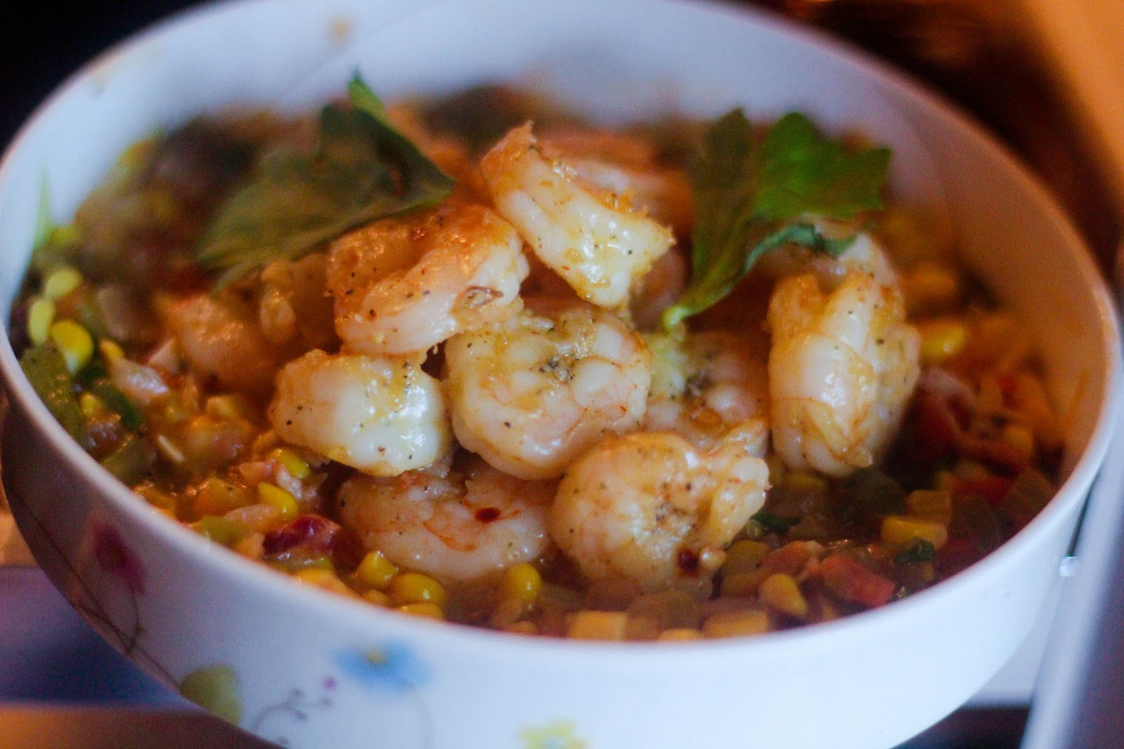 My Weekend's Cooked: Shrimp Maque Choux