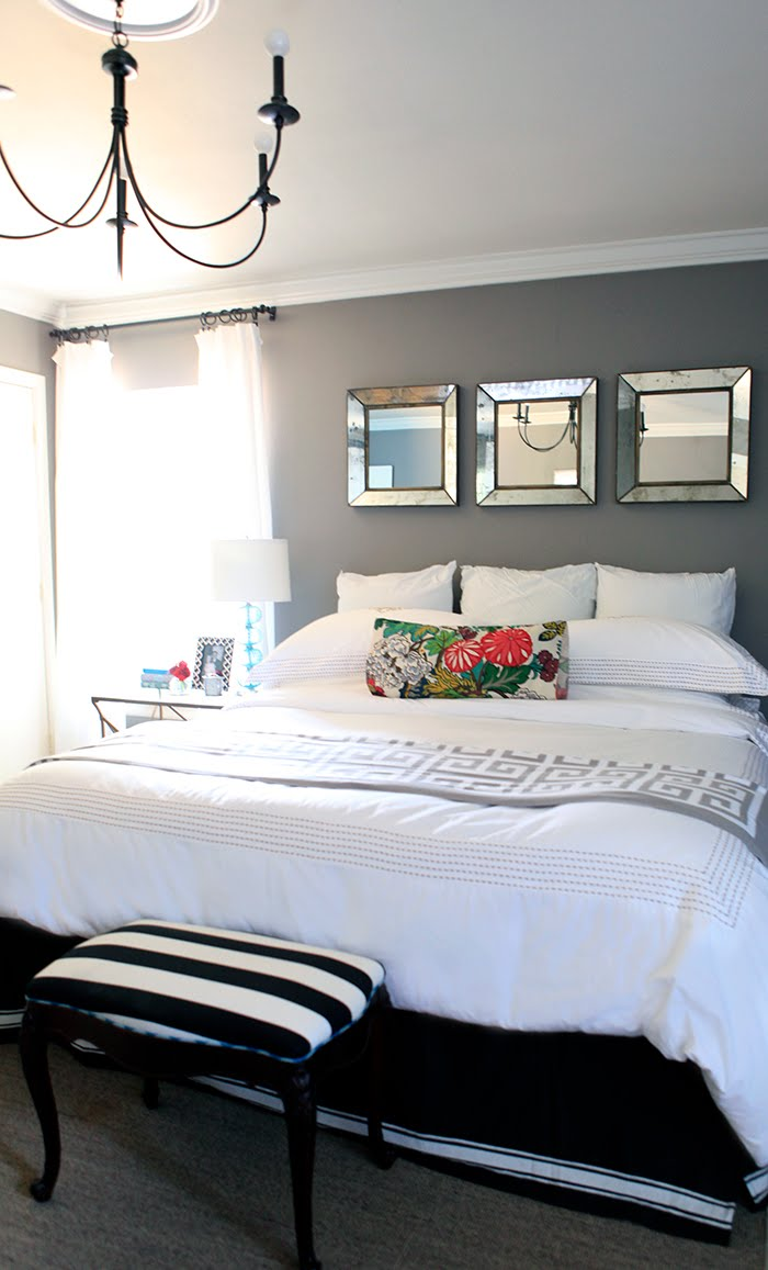 Design studio b more gray bedroom love for Mirror in bedroom ideas