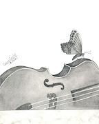 Desenho // Violino. [Graffite em Canson A4] (11.05.06) (desenhomilafrade )