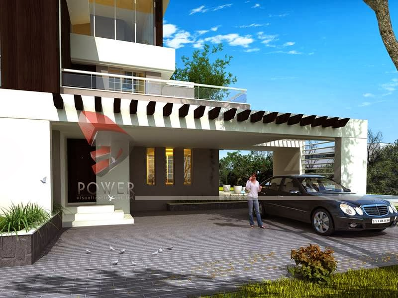 house 3d interior exterior design rendering modern home designs - Interior And Exterior House Design
