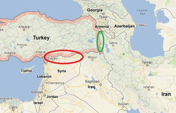 Perbatasan Turki, Suriah dan Iran