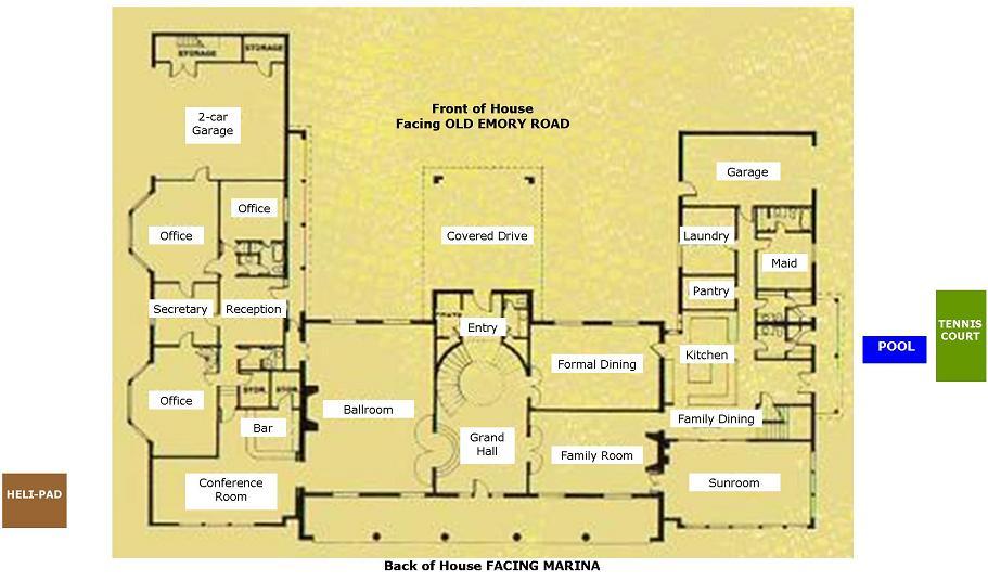 Butcher Mansion Floor Plan   Main Floor   Original