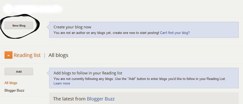 Cara Membuat Blog Sendiri Di Blogspot - 1