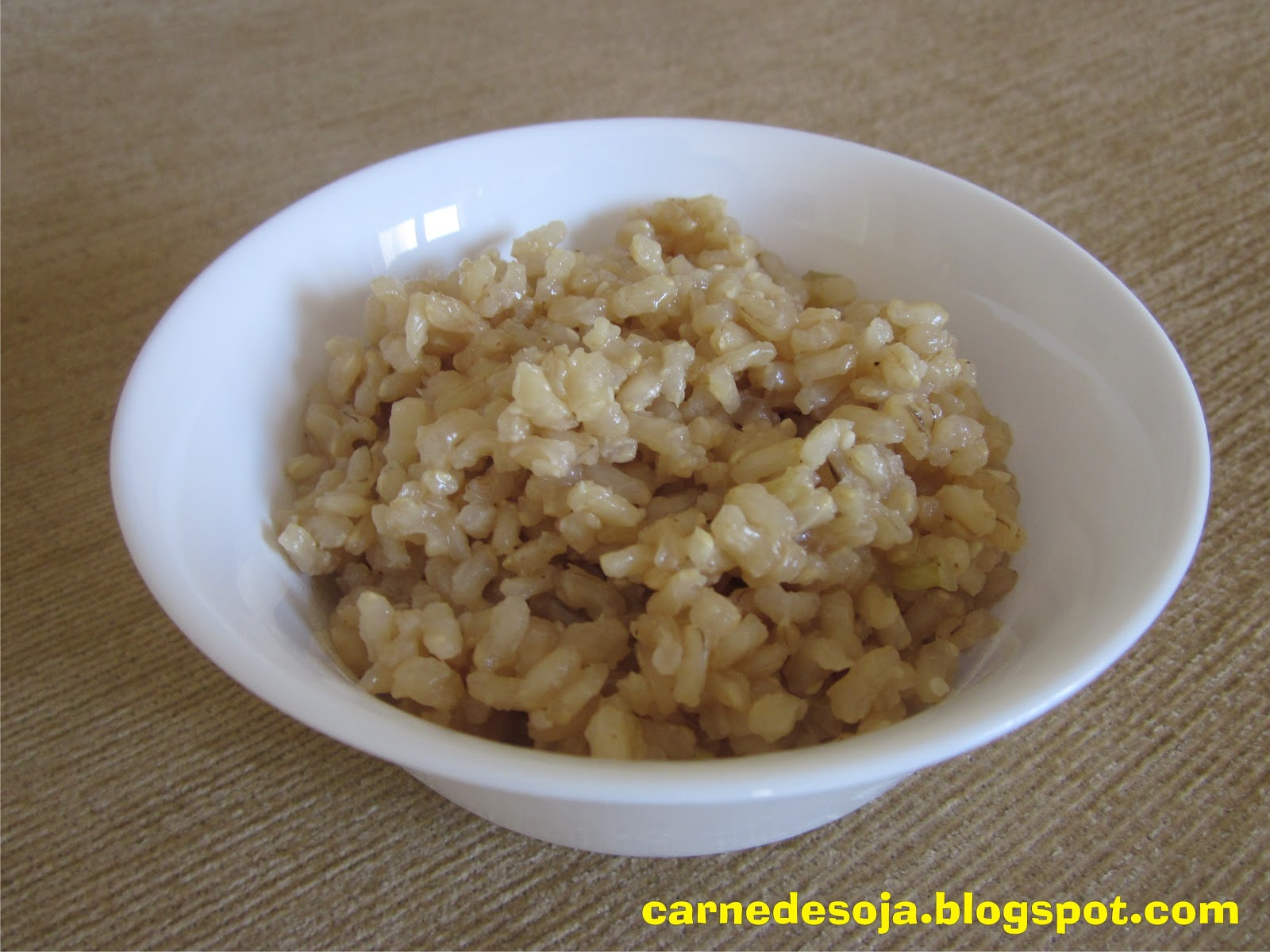 Carne De Soja Arroz Integral En Cocci N B Sica