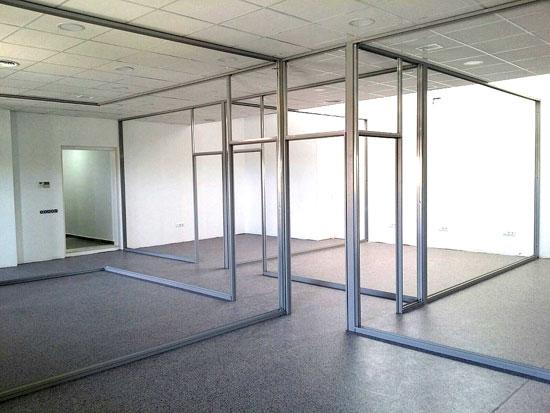 Mamparas de oficina dise o fabricaci n y montaje for Mamparas de oficina precios
