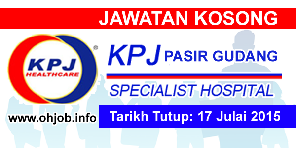 Jawatan Kerja Kosong KPJ Pasir Gudang Specialist Hospital logo www.ohjob.info julai 2015