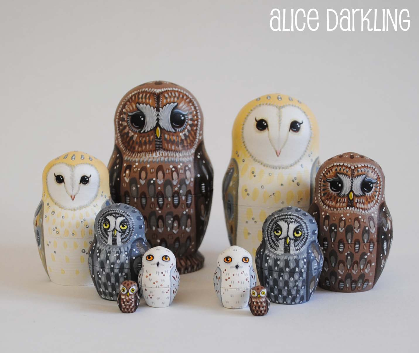Russian Nesting Dolls Owls Owl Nesting Russian Dolls