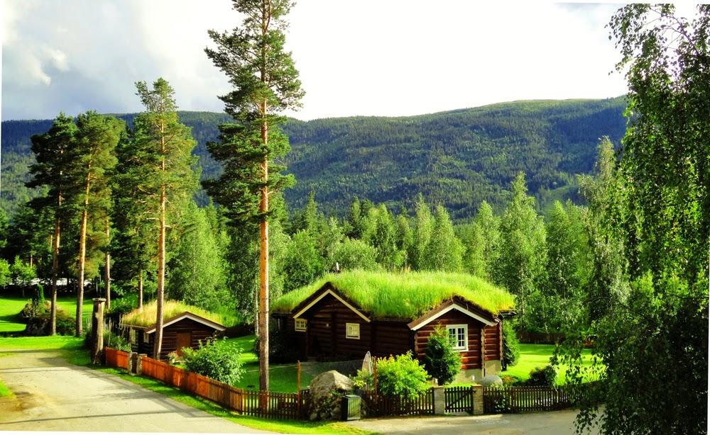 Tejados verdes en noruega hobbits o gnomos vuelo n 17 for Tipos de tejados de casas