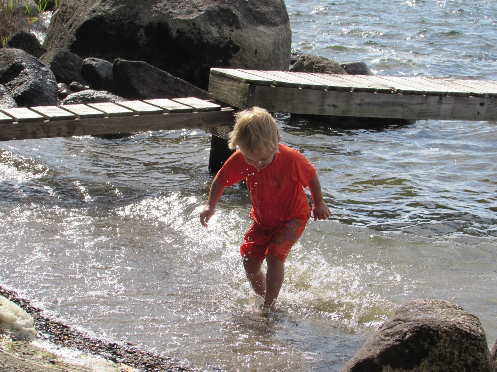 Enjoying water time in the Atlantic Ocean
