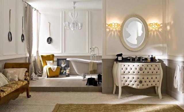 Decorar Un Baño Romantico: mueble de baño Cuero vintage